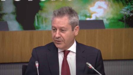Alberto Gutiérrrez presidente de Airbus España durante su intervención.
