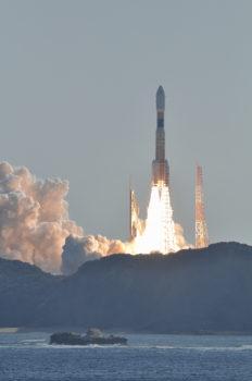 Lanzamiento de un H-22B de la Agencia Espacial de Japón.