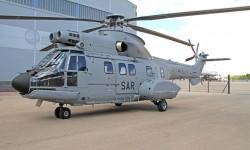 El nuevo helicóptero del 802 Escuadrón en Albacete listo para su entrega.