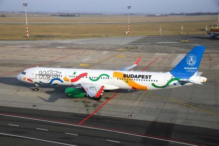 El A321 HA-LXJ con su nueva decoración Budapest 2024.
