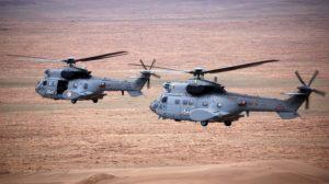 El HD.21-09 en formación con el HD.21-11 sobre Afganistán.