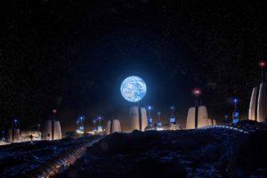 """Así podría ser la primera """"ciudad"""" en la Luna, con diversos habitats interconectados."""