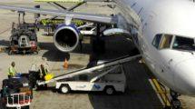 Servicio de handling aeroportuario.