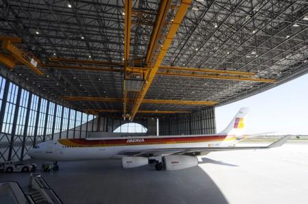 Hangar de Iberia en Barcelona