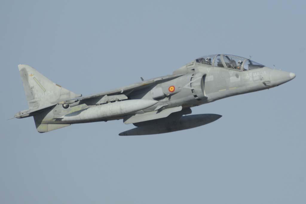 La Armada dispone de un único TAV-8B biplaza para la formación de sus pilotos.