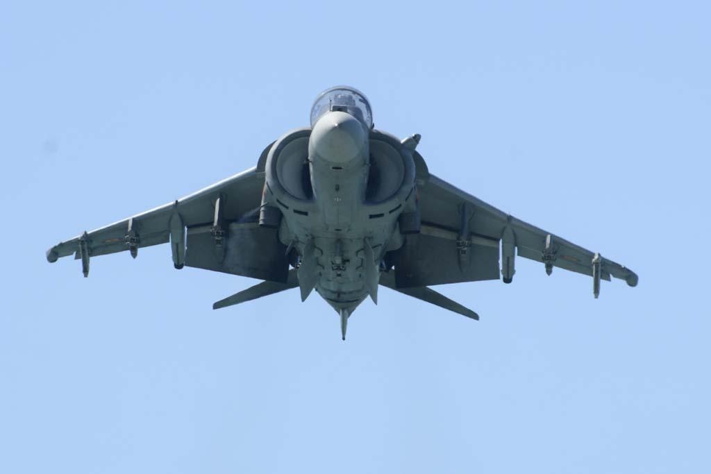 la posición de los flaps y las aletas ventrales ayudan a canalizar el flujo de aire que expulsa el motor para mantener el vuelo vertical.