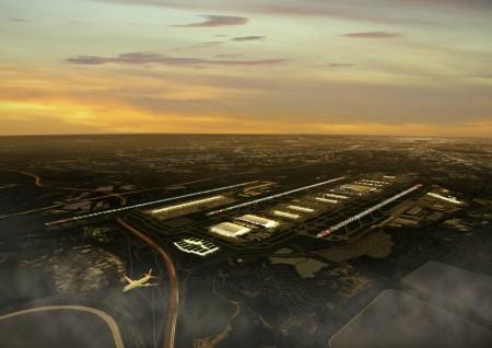 El nuevo Heathrow contará con dos bloques de terminales, el este, formado por la Terminal 2 y el oeste por las Terminales 5 y 6.
