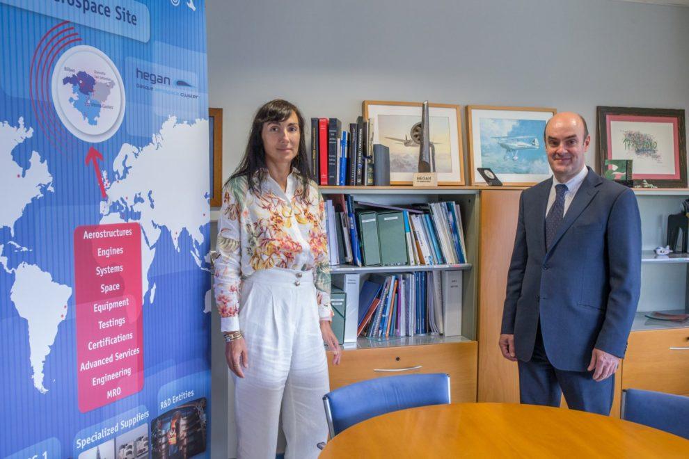 Ana Villate, directora y Carlos Alzola, presidente de Hegan.