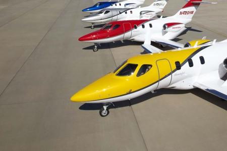 HondaJet ha usado cinco aviones para los vuelos de prueba y certificación.