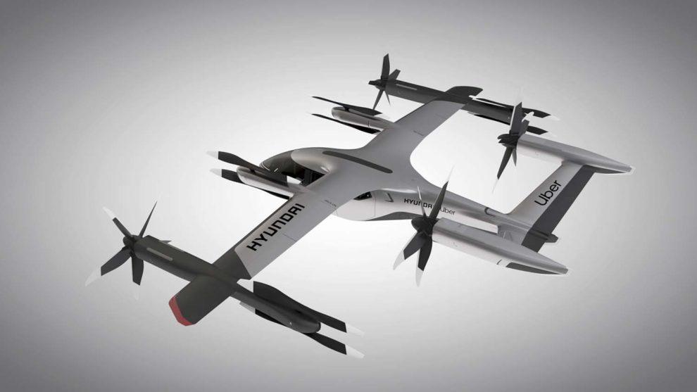 Propuesta de Hyundai de taxi aéreo autónomo para cuatro pasajeros.