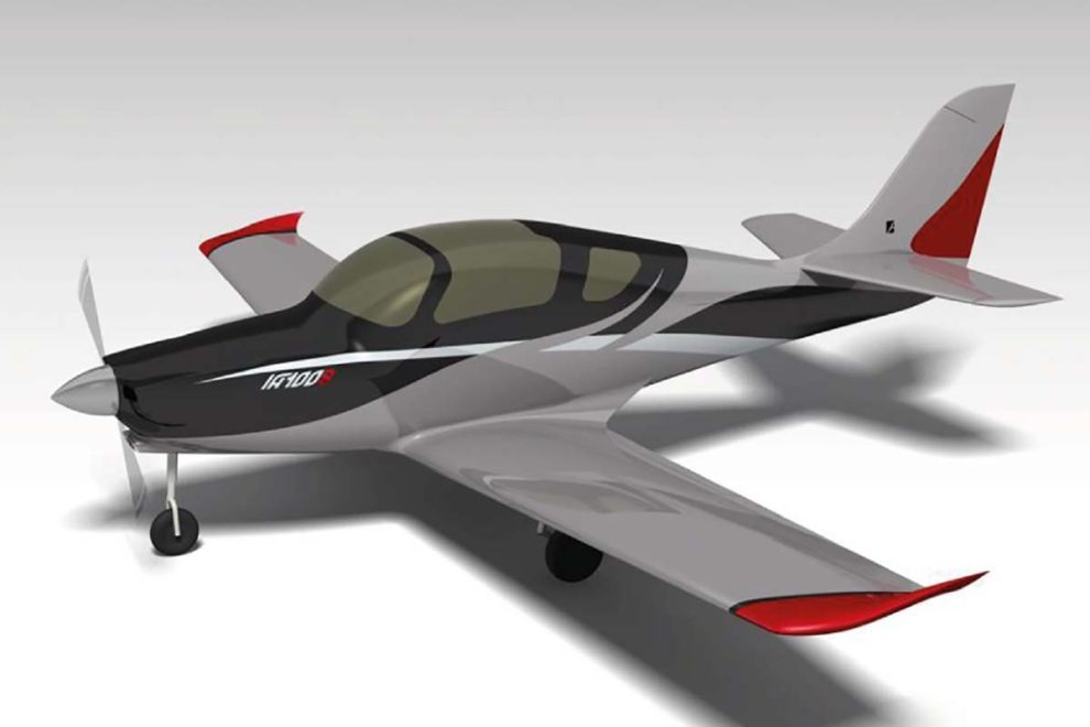 Aspecto que tendrá el IA-100 Malvina en su versión biplaza de entrenamiento básico.