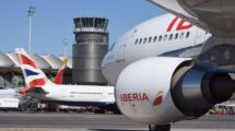 Aviones de Iberia y British Airways en Barajas.