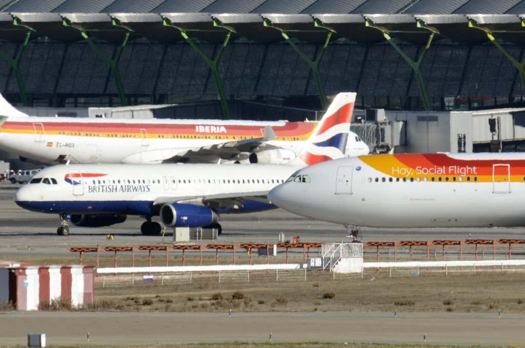 Aviones de IAG en Madrid