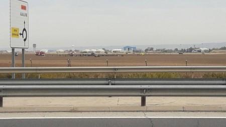 Foto cedida por un testigo del accidente a Fly News