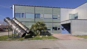 Entrada de la factoría de ITP Aero en Ajalvir (Madrid).
