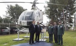 Inauguración en Ajalvir del monumento al Bo-105 de la Guardia Civil.