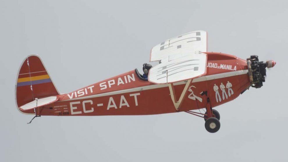 Este Comper Swift recrea el que Fernando Rein Loring usó entre el 18 de marzo y el 10 de abril de 1931 para volar de Madrid a Manila: unos 15.000 km a una media de 182 km/h.