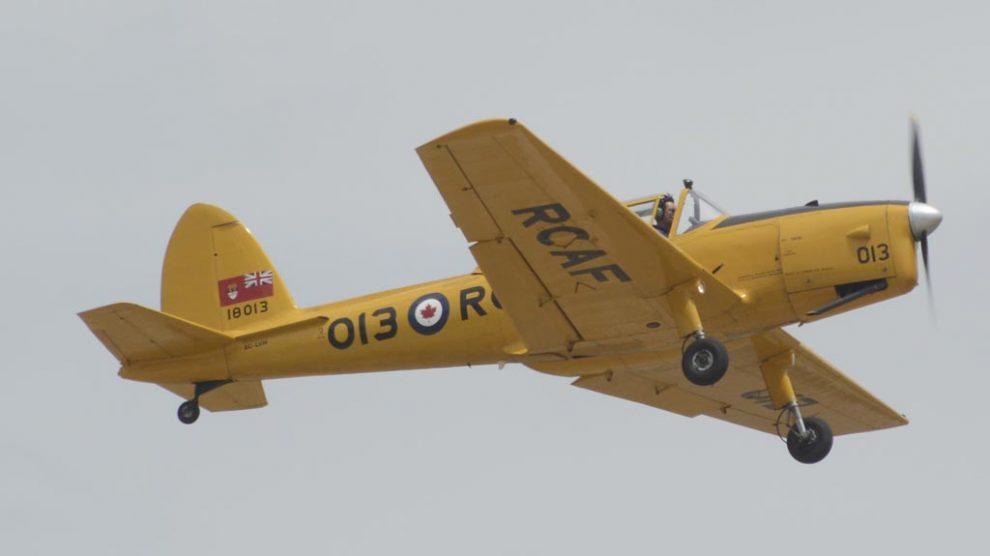 Otro de los entrenadores que forman la colección de la FIO es el De Havilland Canada DHC-1 Chiipmunk.