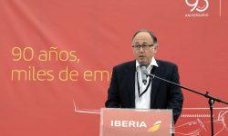Luis Gallego se ha dirigido a los asistentes para agradecerles su asistencia a la celebración de los primeros 90 años de Iberia.