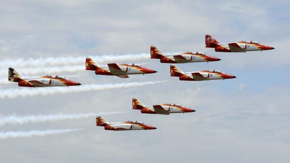 Dos de los aviones de Águila lucían colores especiales.
