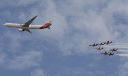 Aguila y el A330 de Iberia.