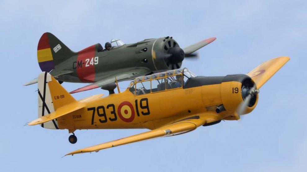 El T-6 con el I-16 dos sonidos en vuelo inconfundibles.
