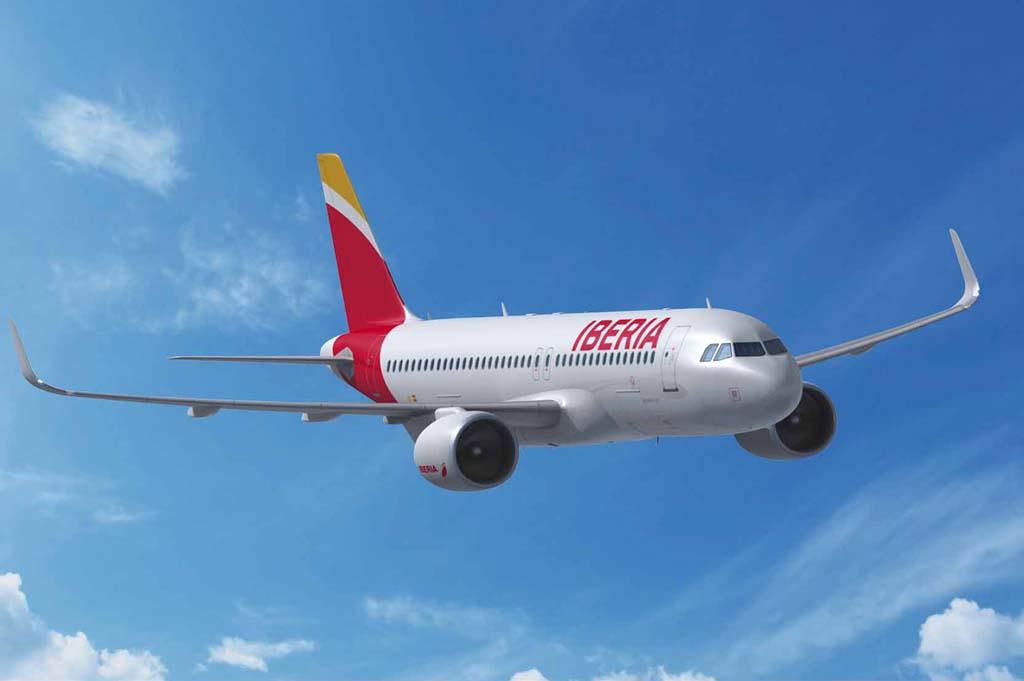 Ilustración de Airbus de como sería un A320neo con colores de Iberia.