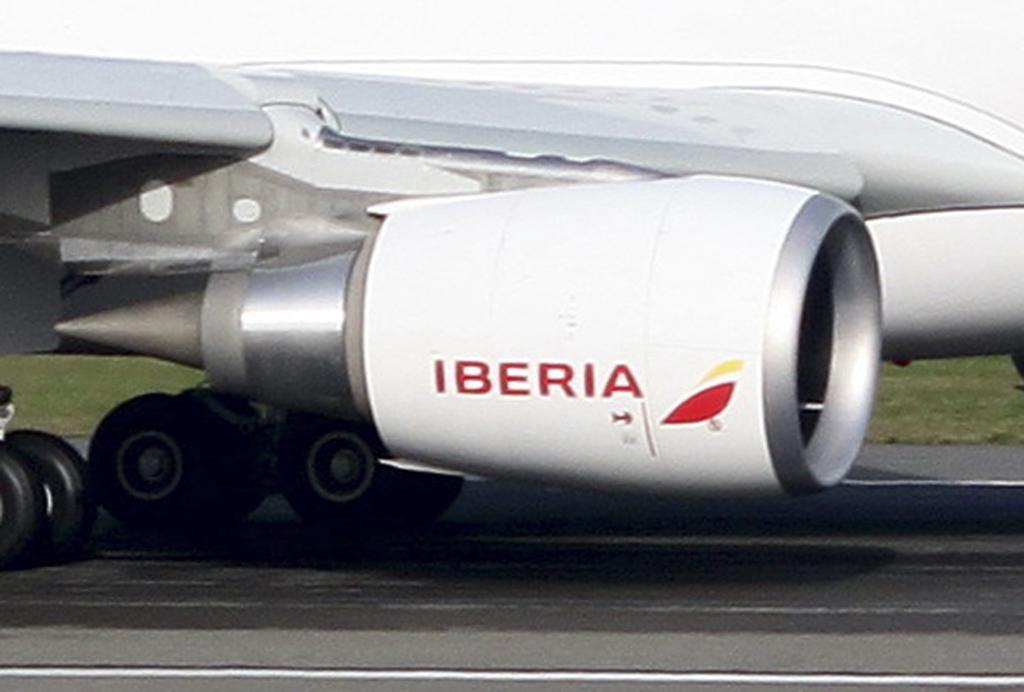 Motor del primer Airbus A330 de Iberia