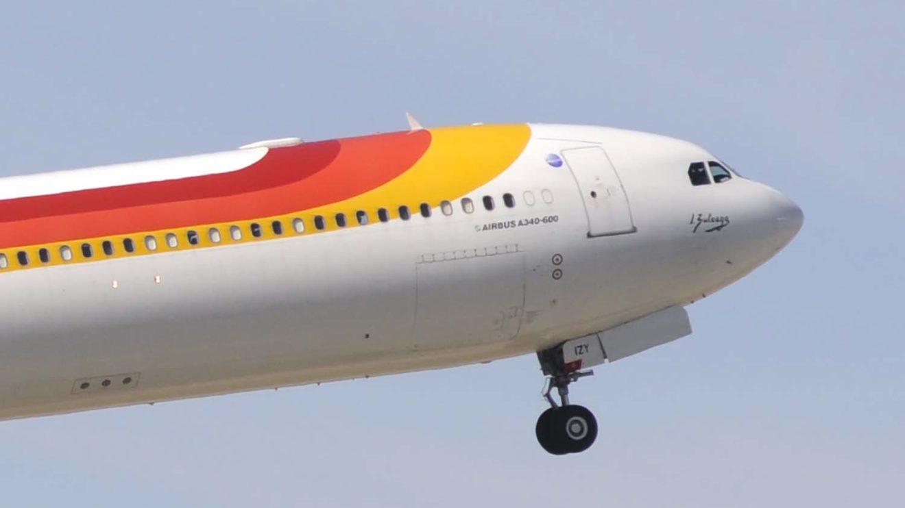 El Zuloaga fue el único A340 de Iberia que llevó la firma del homenajeado como nombre.