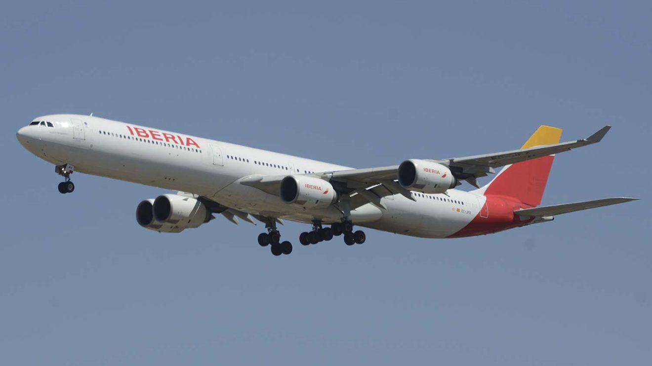 El EC-JFX fue uno de los primeros A340-600 que Iberia paró como consecuencia de la crisis del COVID-19.