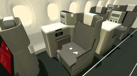 Los asientos de business de los A350 de Iberia son mayores que los que los instalados en los A330 y A340.