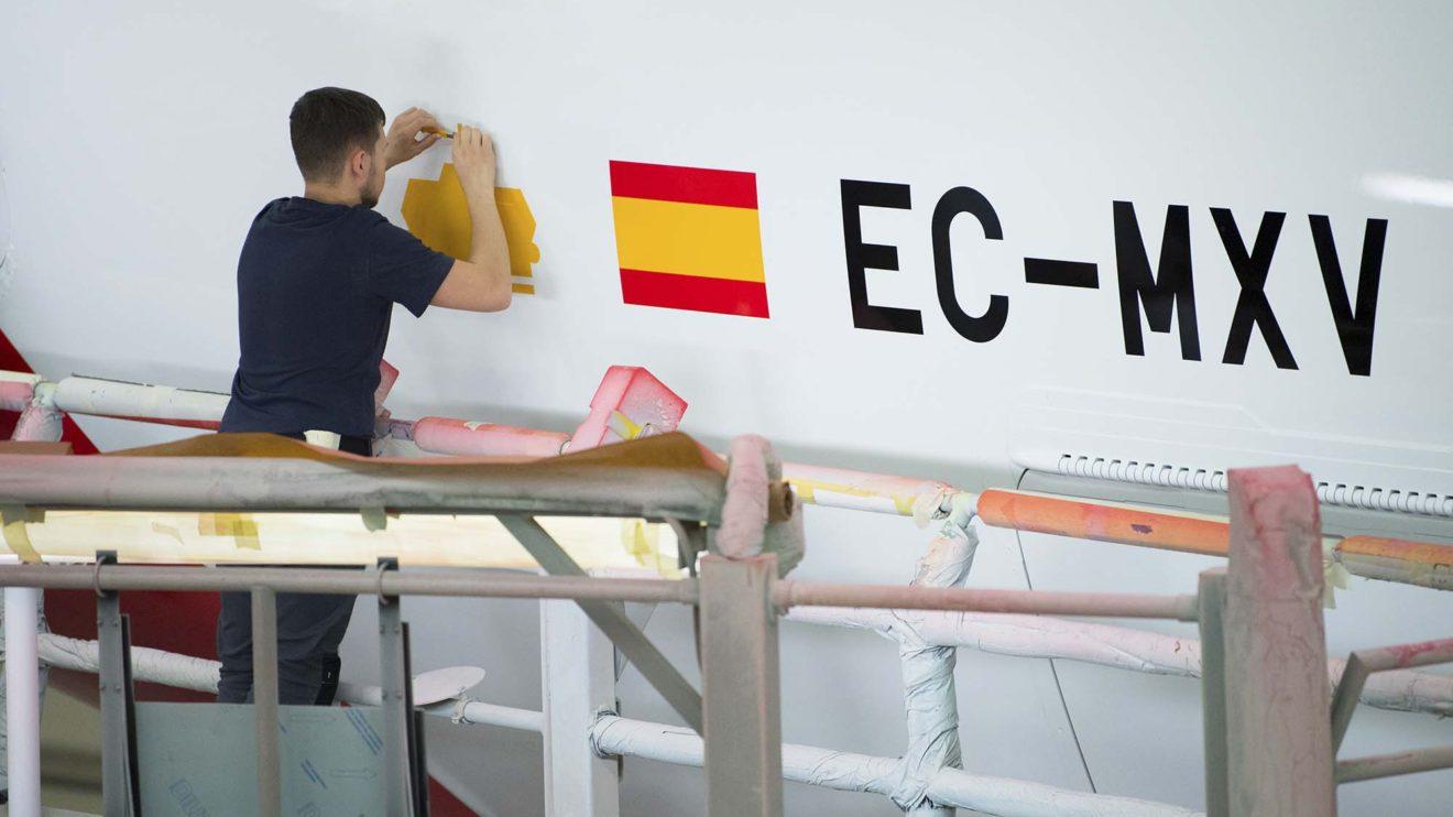 EC-MXV será la matrícula con la que este avión sirva en la flota de Iberia.
