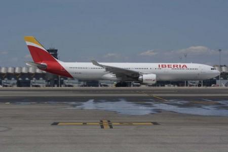 El Airbus A330-200 EC-MAA fue el avión que Iberia usó para el vuelo inaugural Madrid Johannesburgo el 1 de agosto de 2016.