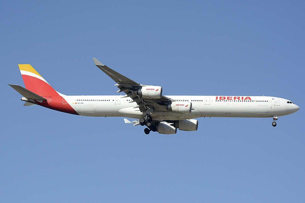 El Airbus A340-600 EC-JCZ hizo su último vuelo comercial el 10 de enero de 2020 entre Nueva York y Madrid.
