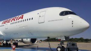 Iberia tiene pedidos 20 Airbus A350-900, de los que ya ha recibido cinco, y con los que irá sustituyendo sus A340.