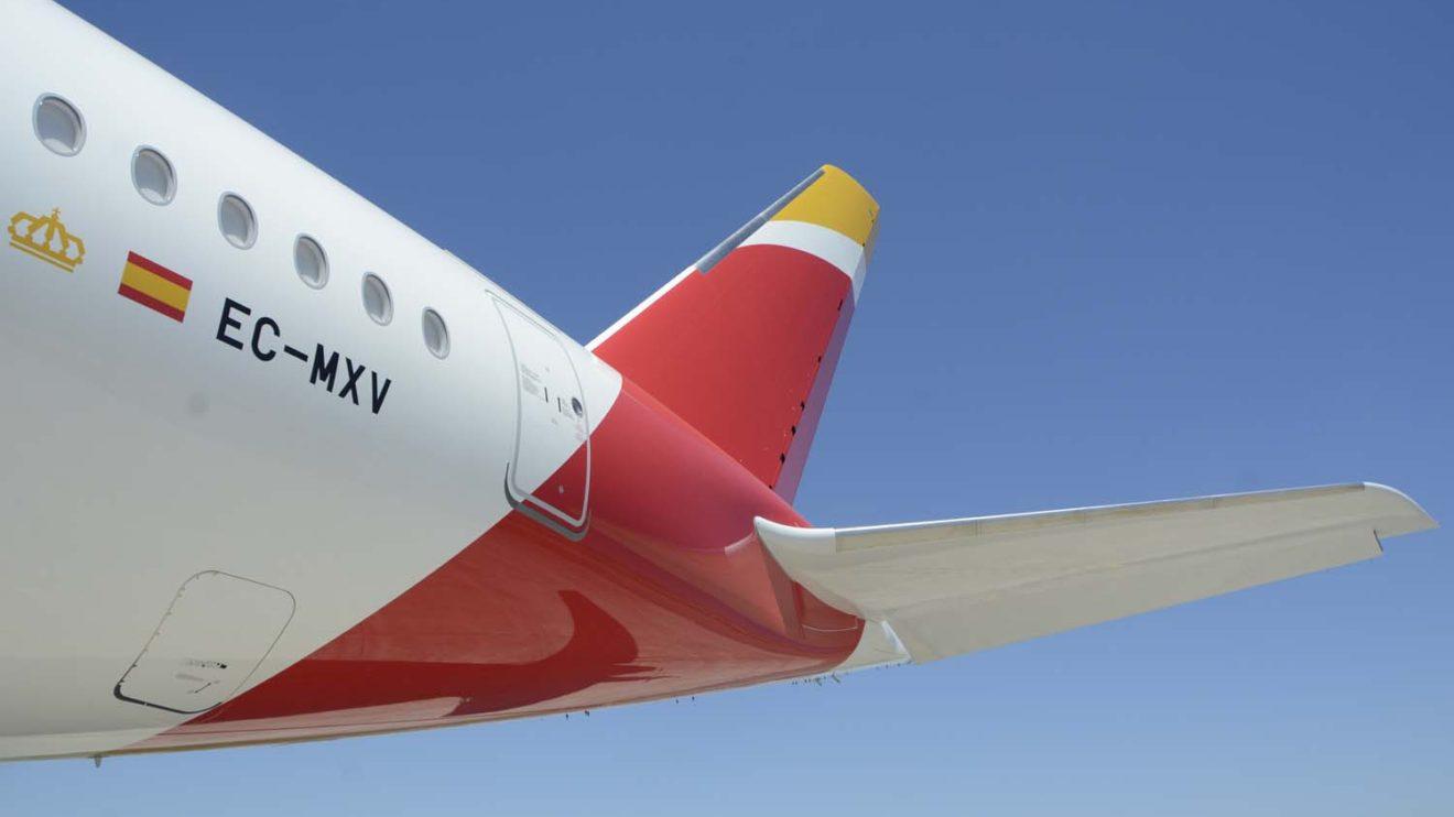 Las superficies estabilizadoras horizontales y vertical y la sección trasera del fuselaje del A350 son construidos en España