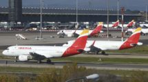 Aviones de Iberia en el aeropuerto de Madrid-Barajas.