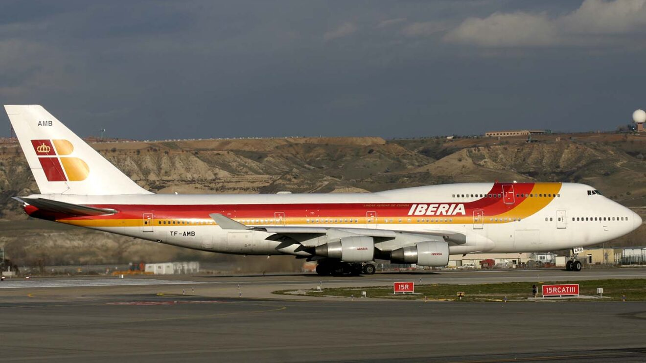 El Boeing 747-400 fue la última versión del Jumbo operada por Iberia.