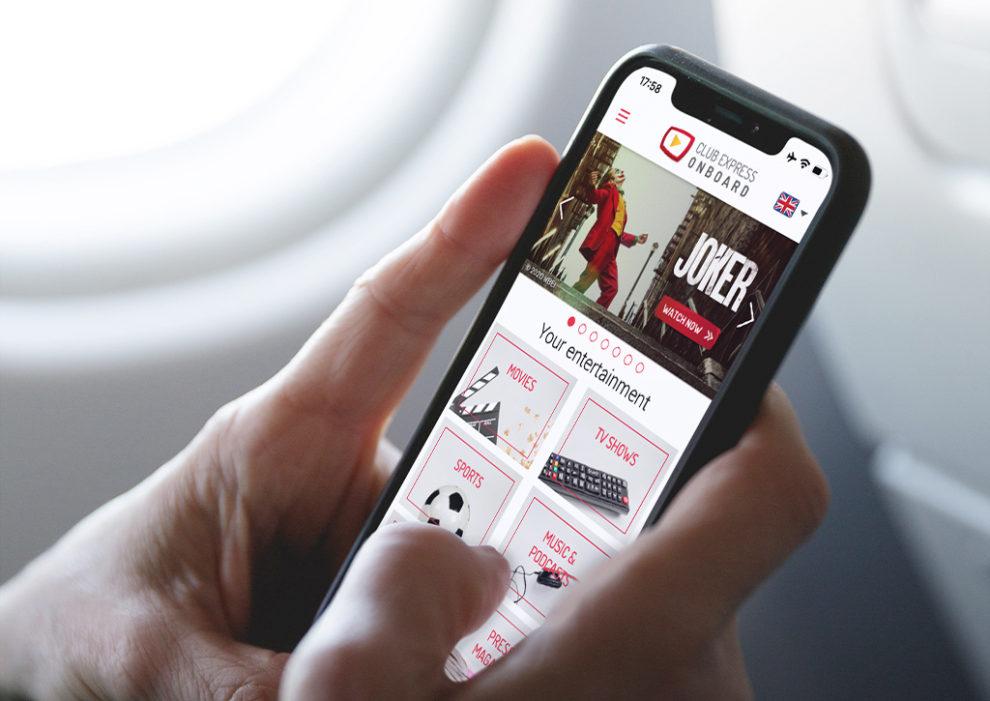 Pantalla del Club Express Onboard de Iberia Express en un smartphone con la opción de ver Joker.