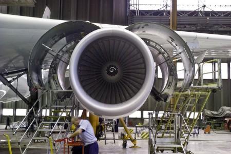 Taller de motores de Iberia Mantenimiento