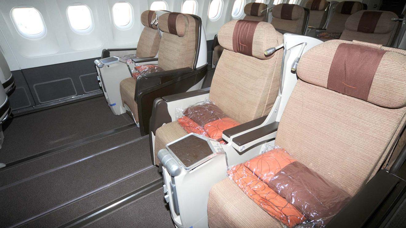 Iberia reformó sus A340 varias veces, esta es la clase business a la que sustituyó la actual.