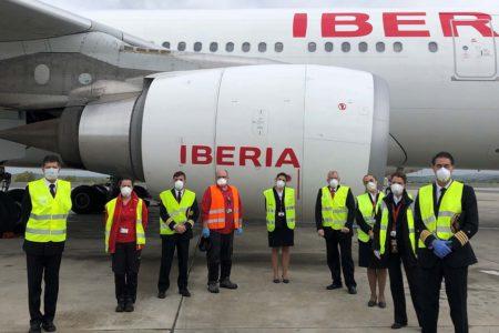 El número de trabajadores de Iberia afectados por los ERTE varía día a día segun la operatividad prevista. Además, trabajar o permanecer en el ERTE es voluntario.