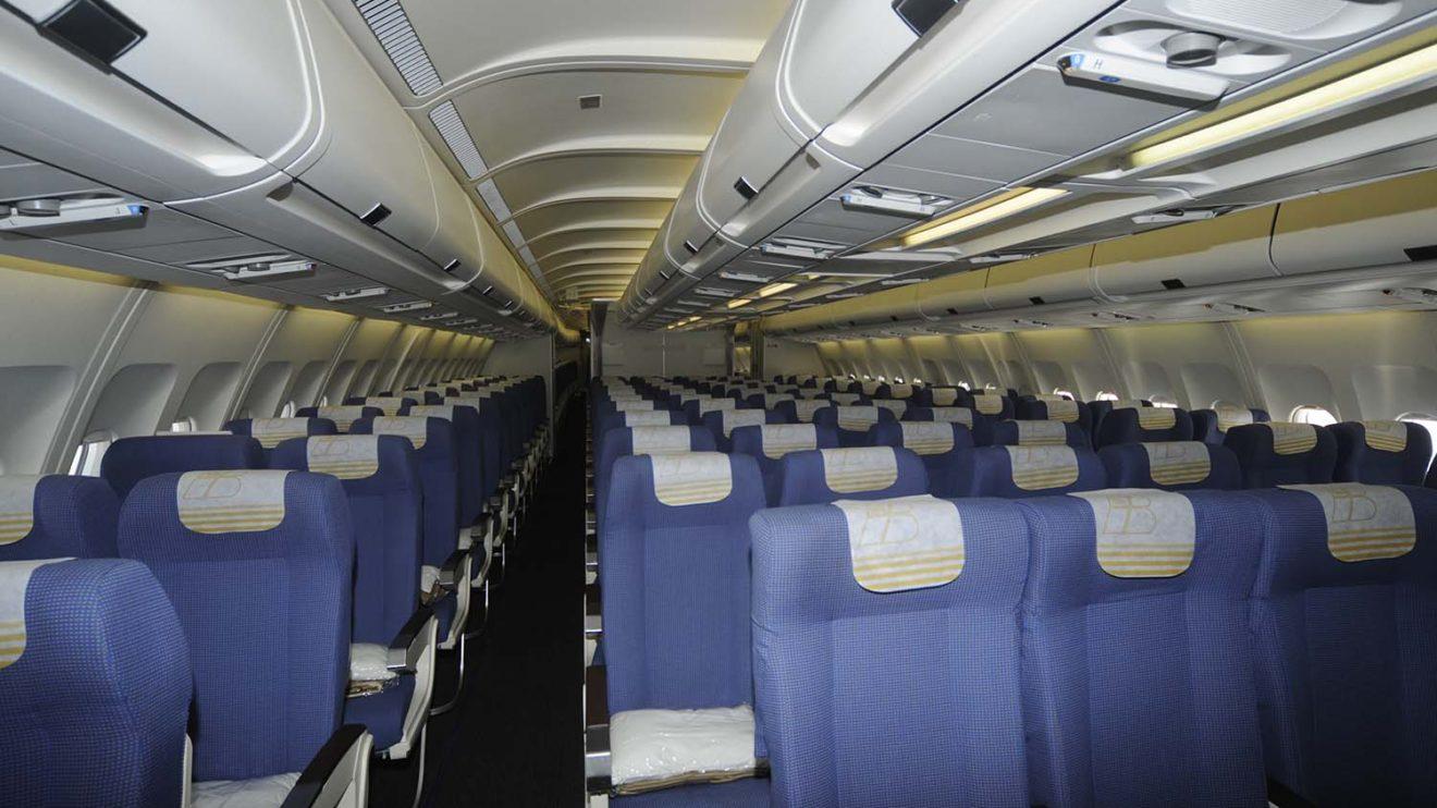 Antigua clase turista en los A340 de Ibreia.