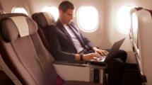 Asiento de turista premium de Iberia en sus aviones de largo radio.