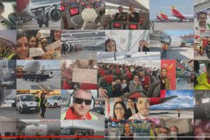 Iberia apoya la lucha contra el coronavirus con vuelos para repatriar a la gente y traer ayuda me´dica.