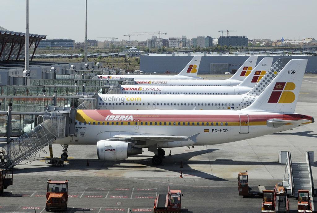 Aviones de Iberia, Vueling e Iberia Express en Barajas
