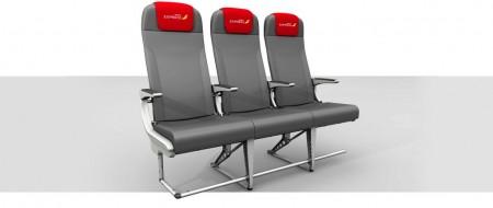 Nuevos asientos delgados de Iberia Express.