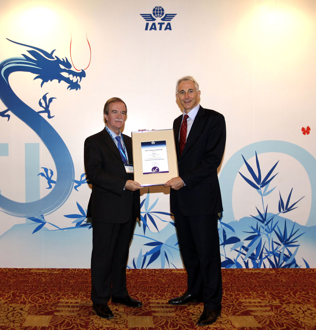 Iberia recibe el Fast Travel Award de IATA.