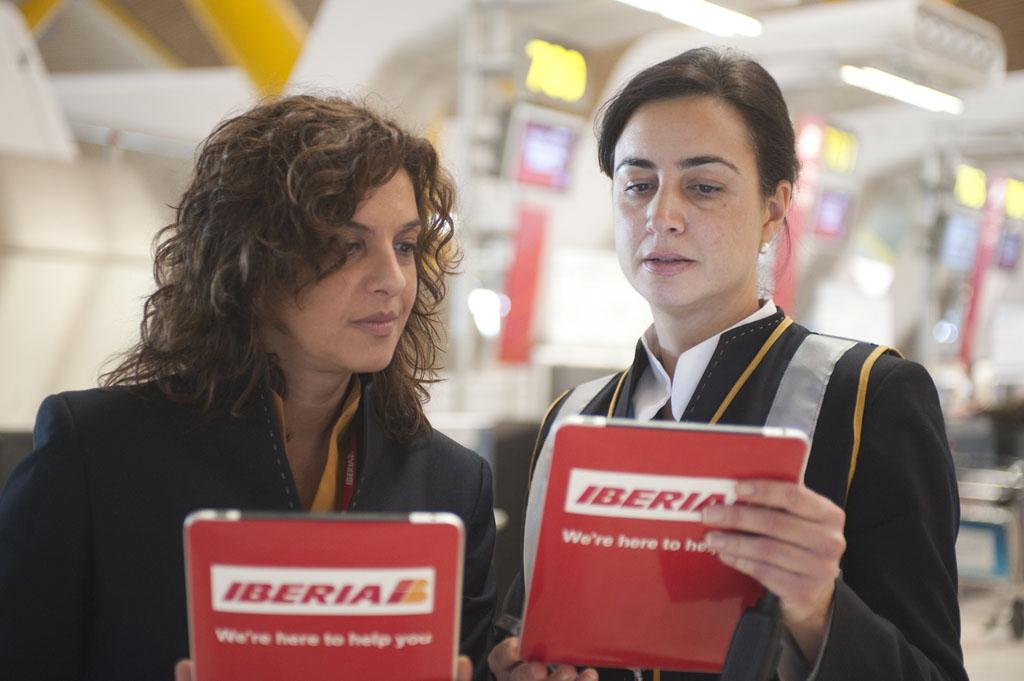 Personal de atención al pasaje de Iberia