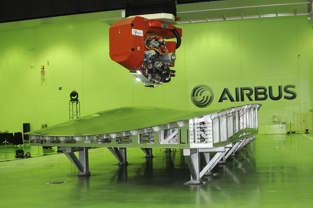 Pieza del ala para el Airbus A350 XWB fabricada en Illescas